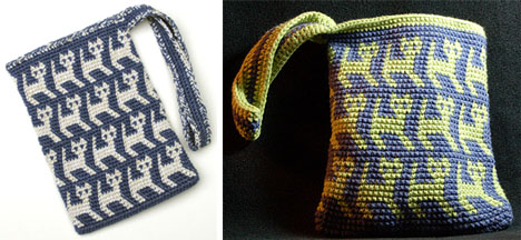 Tapestry Crochet Kitty Bags