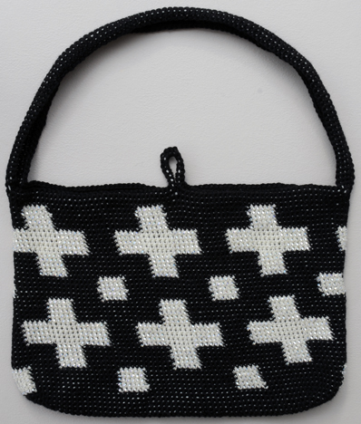 Bead Felted Tapestry Crochet Bag