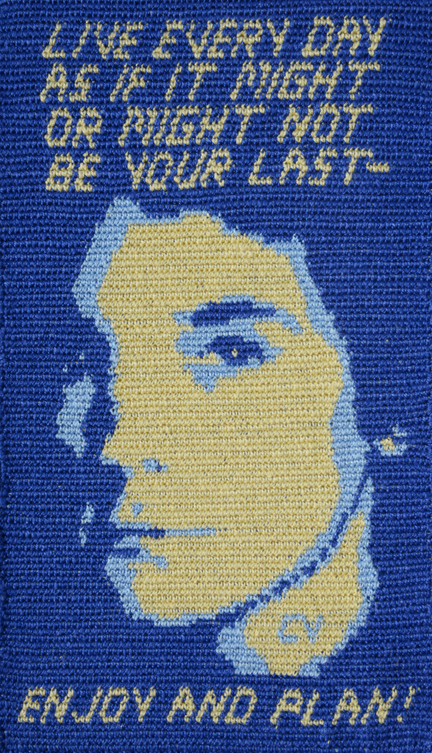 Tapestry crochet with lnen, 2015.