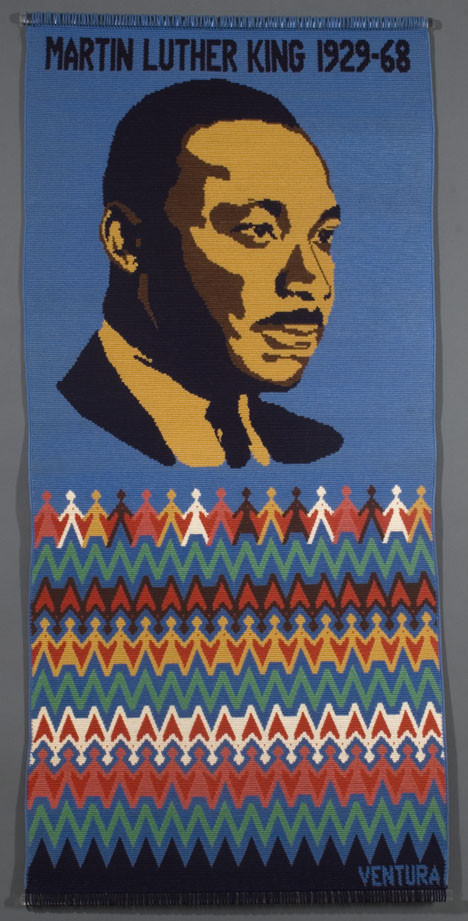 ". . . I still have a dream . . . , tapestry crocheted cotton, 27"" x 56"", 1983."