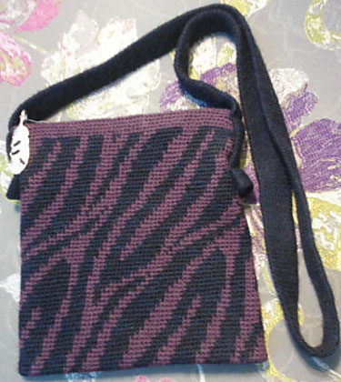 Nona's first tapestry crocheted bag, May 2013.