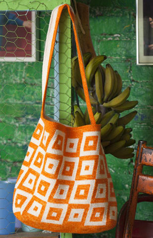 Tapestry Crochet Tote in Vogue