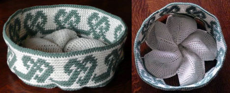 Views of Annie's Tapestry Crochet Basket