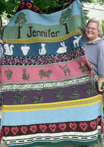 Annie crocheted this for Jennifer