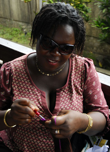 Arden tapestry crocheting in Ghana