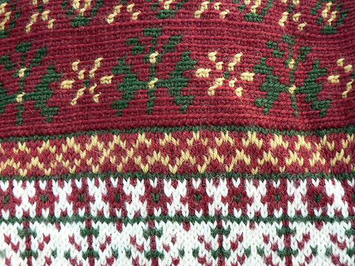 Detail of Barbro's Korsnas Sweater