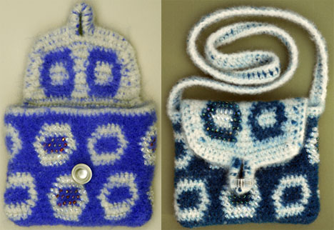 Bead Felted Tapestry Crochet Bags