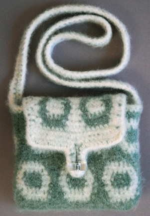 Reverse side of the Bead Felted Purse