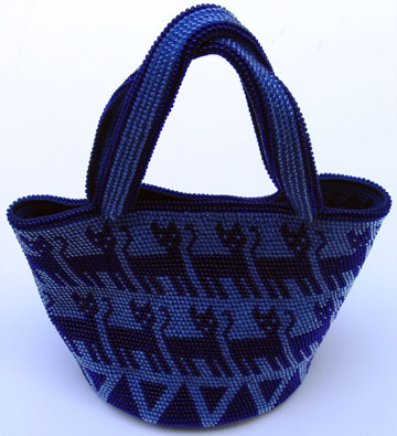 Bead Tapestry Crochet Cat Purse