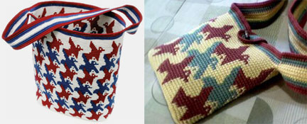 Tapestry Crocheted Bird Bags