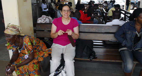 Carol in the Accra Bus Station