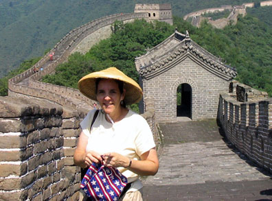 Carol on the Great Wall of China