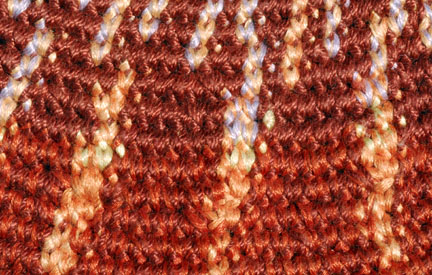 Detail of Tapestry Crochet Shell