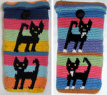 Kathy's Tapestry Crocheted Eyeglass Cases
