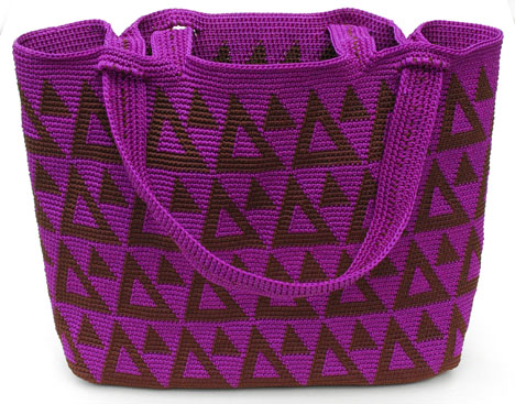 Tapestry Crochet Triangles Bag