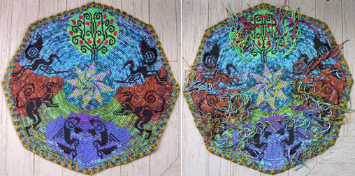 Front and back of Esther Holsens tapestry