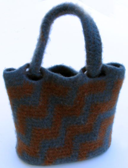 Crochet Felted Tote Bag Pattern : CROCHET FELTED PATTERN PURSE Patterns