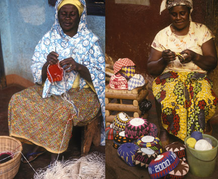 Crocheters from Foumban, Cameroon