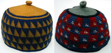 Hats from Foumban, Cameroon