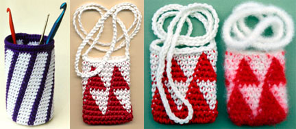 Free Felted Tapestry Crochet Amulet Bag Pattern by Carol Ventura