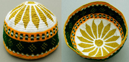 Tapestry crochet hat from Morocco