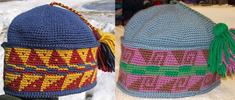 Joel's Fourth and Fifth Nassak Style Hats