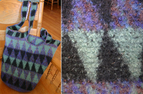 Kris King's Felted Tapestry Crochet Bag