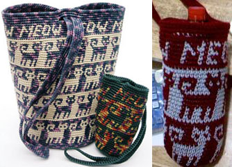 Tapestry Crochet Cat's Meow Purses