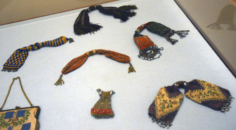 Miser Purses in the Costume Gallery of the Pitti Palace in Florence