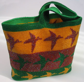 Bead Tapestry Crochet Bag