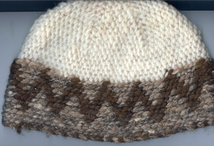 Slip stitched hat from Morocco