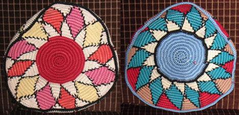 Sheri's tapestry crochet bowls