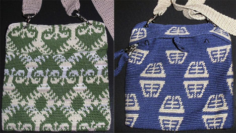 Two tapestry crochet bags by Siglinde