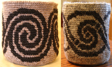 Tapestry Crochet Spiral Baskets