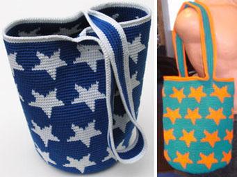 Tapestry Crochet Stars Bags