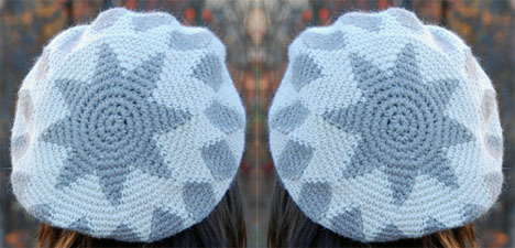 Tapestry Crocheted Star Hats
