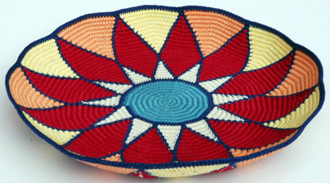 Sunburst Tapestry Crochet Basket