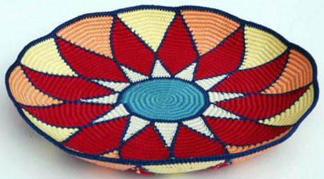 Sunburst Tapestry Crochet Basket