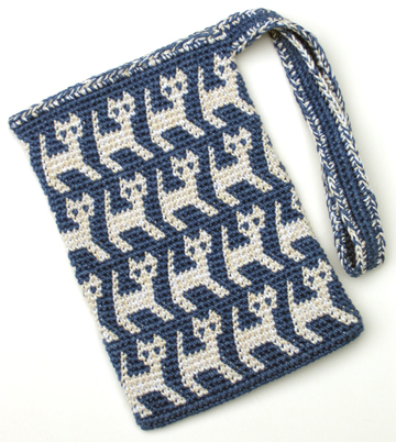 A Perrrrfectly Wonderful Tapestry Crochet Kitty Bag