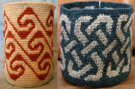 Tapestry Crochet Baskets