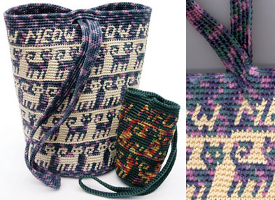 Tapestry Crochet Purses