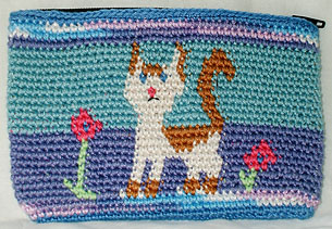 Kathy's White Cat Coin Purse
